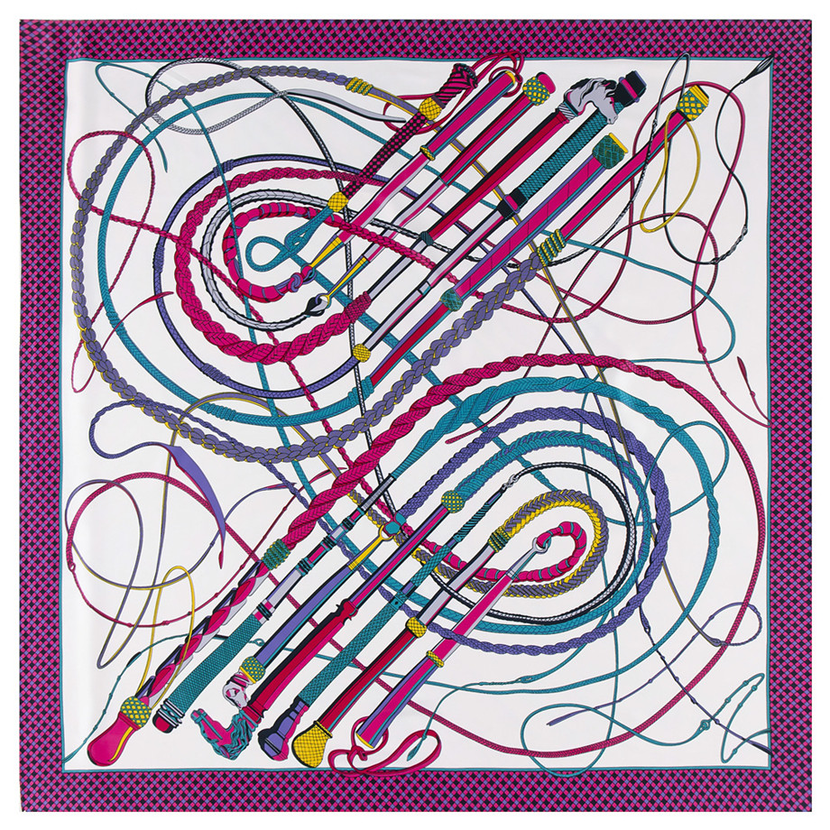 130cm Horsewhip Big Handkerchief Luxury Brand Scarf Twill 100% Silk Scarf  Square Scarves Women Kerchief For Ladies Shawl Echarp