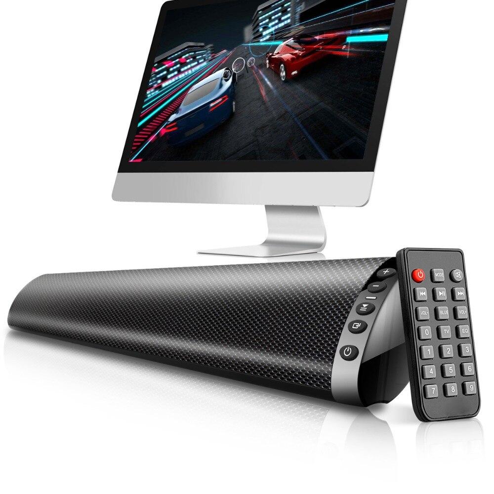 20W colonne sans fil Bluetooth haut-parleur TV barre de son barre de son Home cinéma musique stéréo Support TF USB 3.5mm Fiber RCA pour TV PC