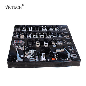 32pcs Mini Domestic Sewing Machine Presser Foot Feet Braiding Blind Stitch Darning Set for Brother Singer Janome Presser Feet