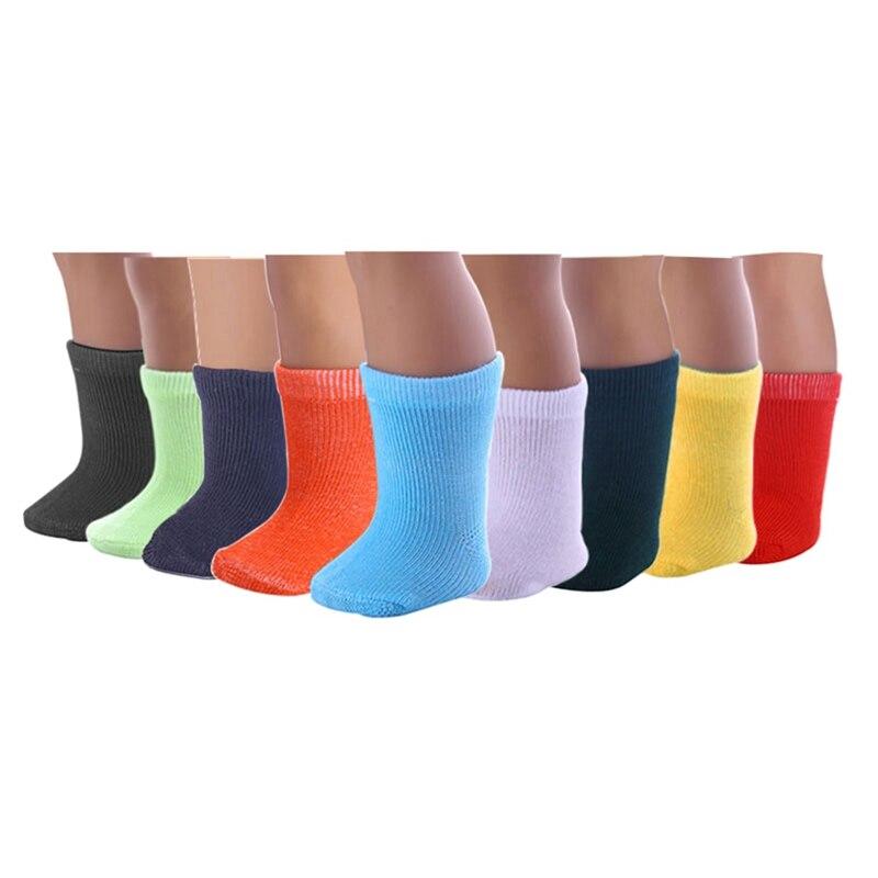 9 цветов 1 пара каждого цвета дюймов 18 дюймов кукольные носки подходит Девочка Кукла Одежда Детская кукла