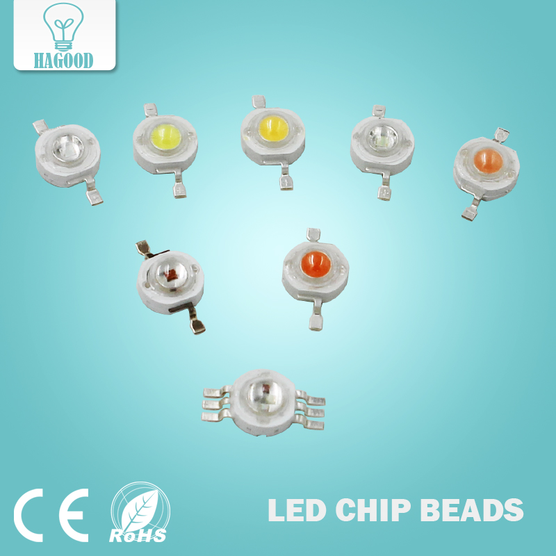 10PCS 1W 3W High Power LED Chips Leds Light-Emitting Diodes Lamp Beads SMD Cold / Warm White Pink RGB For Bulb Spotlights