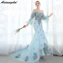 aixiangsha Mermaid Prom Dresses 2018 Appliques Party Dress