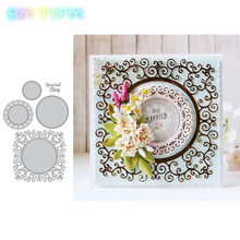 New Flower Decoration Frames Metal Cutting Dies Stencils for DIY Scrapbooking/photo album Decorative Embossing DIY Paper Card(China)