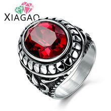 XIAGAO Wholesale Male Finger Rings New Fashion Men's Jewelry 4 Kinds Of Color  Silver Gold Filled Ring For Man Size 9 to13
