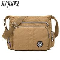JINQIAOER Waterproof Nylon Women Messenger Bags High Quality Handbag Casual Clutch Carteira Travel Shoulder Bag Style