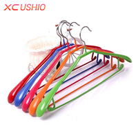 Household Anti Slip Soaked Plastic Clothes Hanger Portable Thickened Adult Coat Pants Skirt Drying Rack Traceless
