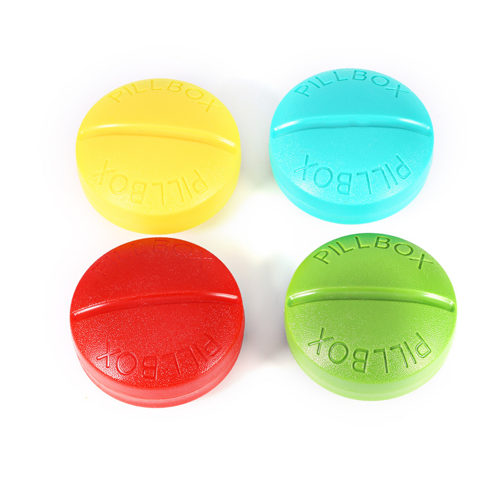 compartment pill box organizer for travel and tablet medicine storage dispenser holder