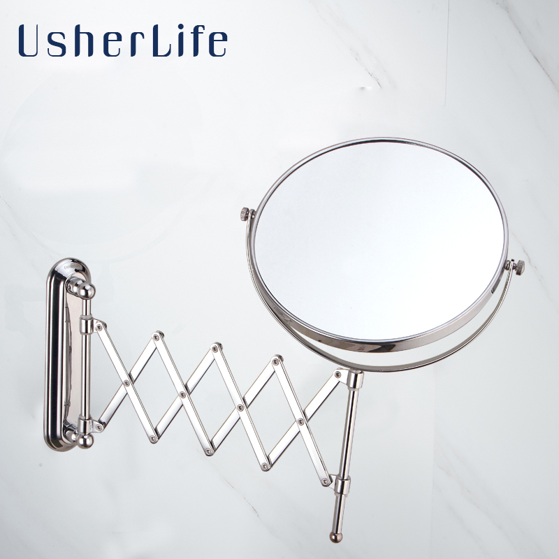 Usherlife 8u0027u0027 Wall Mounted Bathroom Mirror Arm Extend Double Faced Bath  Mirror 1: