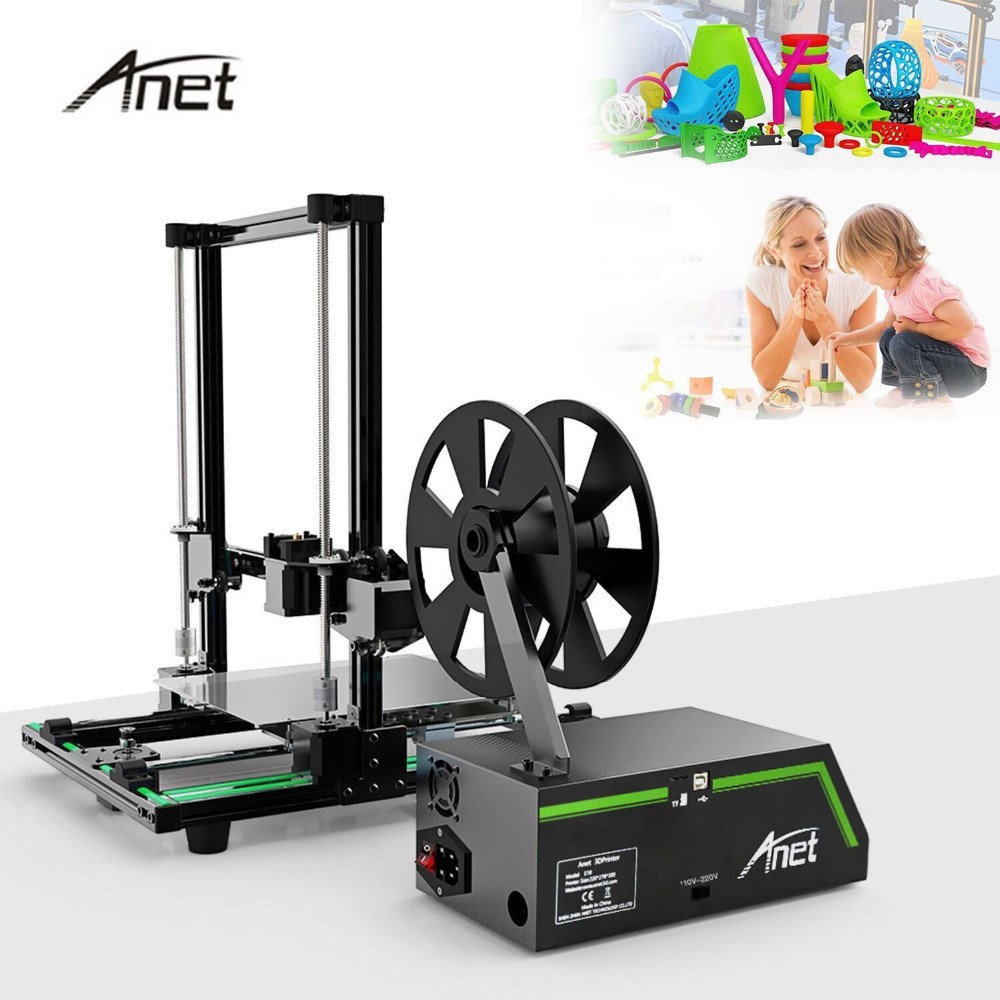E10 LCD Display Professional 3D Printer High Precision Aluminum Alloy Frame Large Printing Size DIY 3D