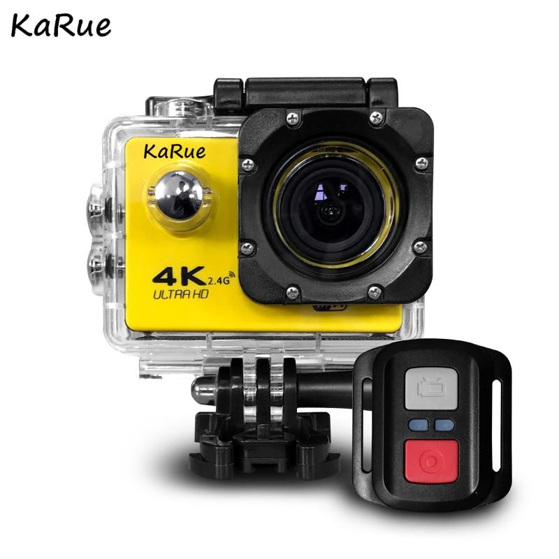 KaRue J7000RSport D'action Caméra Ultra HD 4 K WiFi 1080 P 150D 2.0 pouce Écran Étanche Bike Helmet Cam Mini caméra extérieure