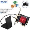 Двухдиапазонный Killer AC 1200 Мбит/с 802.11ac Wifi игровой Настольный беспроводной PCI-E адаптер Wifi Bluetooth PCi Express беспроводная карта BT4.1