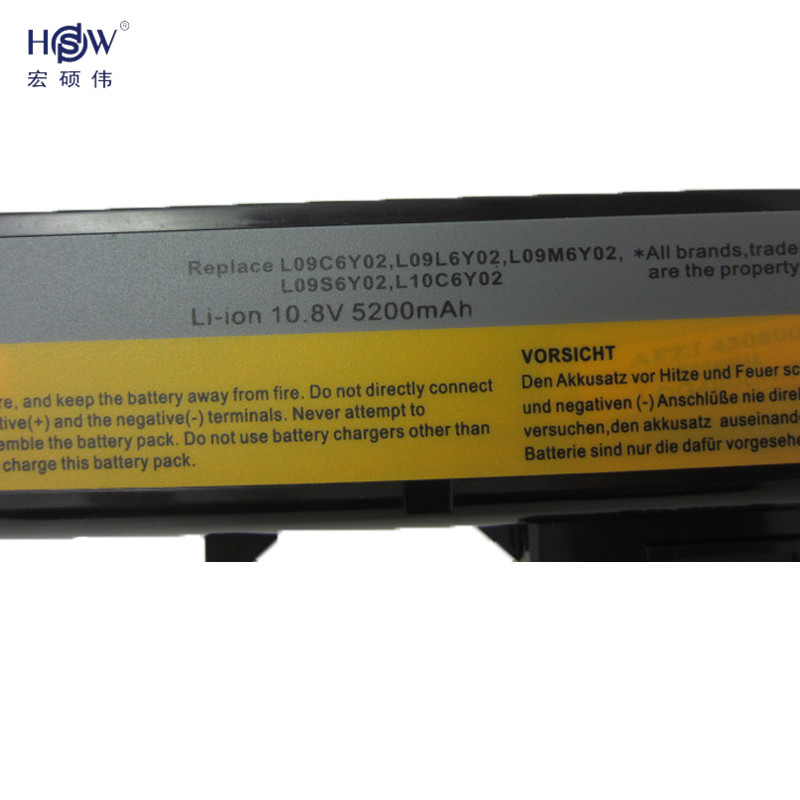 HSW 5200MAH NEW 6cells Laptop Batteries for lenovo G460 BATTERY G470 Z460 Z470 G560 V360 Z560 V560 E47 Z370 Z465 B570 B575 V470 in Laptop Batteries from Computer Office