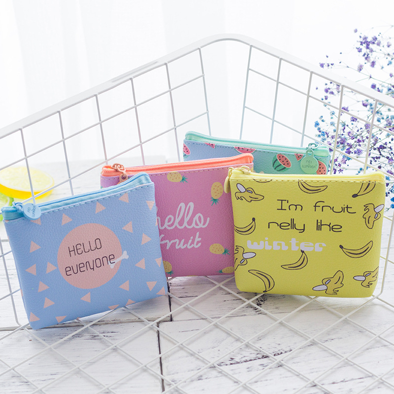 Fashion Mini Canvas Coin Purse Small Women Wallet Female Casual Korean Cartoon Lovely Style Women Purse Coin Purse Money Bag