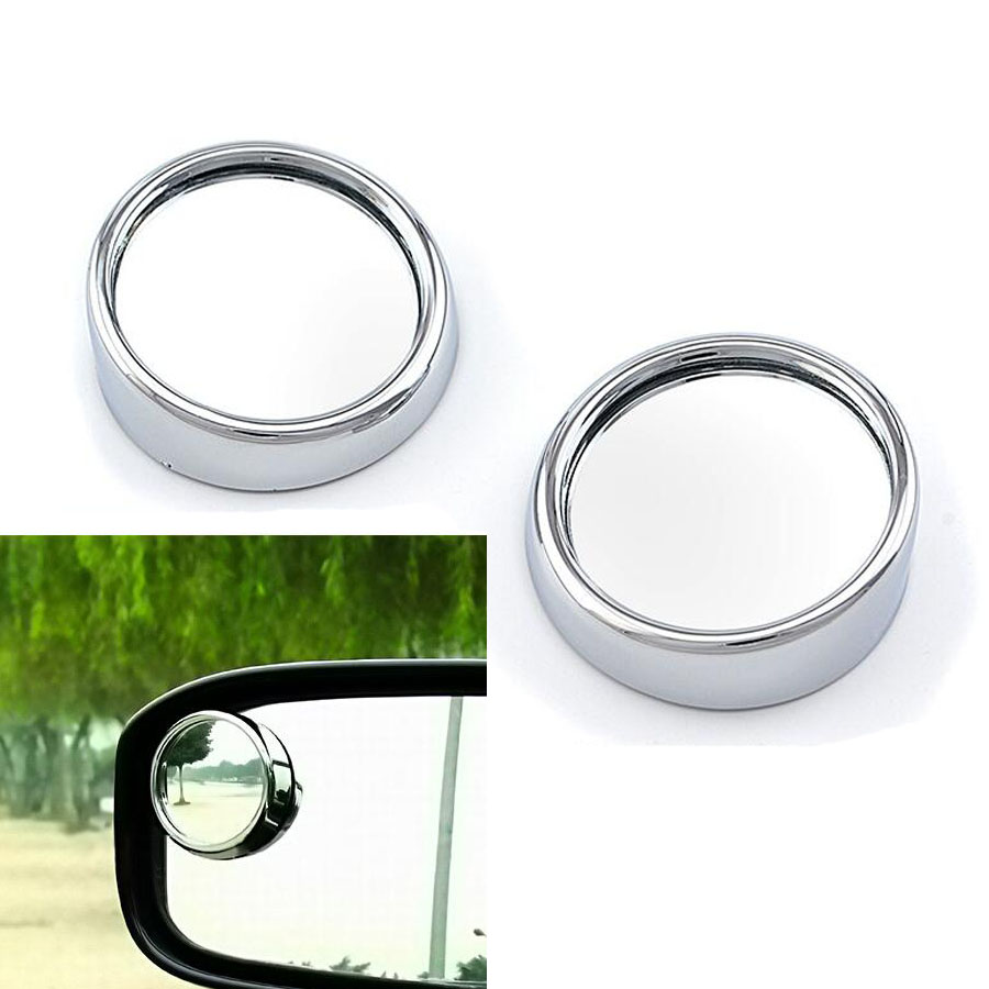 1Pair Auto Side 360 Wide Angle Round Convex Mirror Car Vehicle Blind Spot Dead Zone Mirror RearView Mirror Small Round Mirror