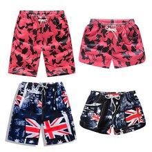 New Beach Shorts Men Women Printed Couple Swimwear Quick Dry Elastic Swim Trunks Summer Swimming Briefs