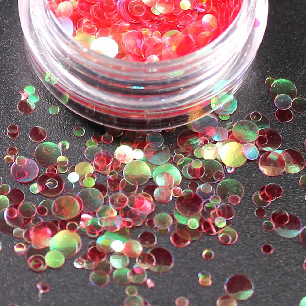 1 коробка блестящие круглые ультратонкие блестки Красочные Блестки для дизайна ногтей УФ гель 3D декоративный Маникюр DIY аксессуары NR234 - Цвет: Прозрачный