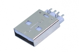 1000pcs USB 2.0 A type male plug right angle SMT PCB mount 2 fork location 4 pin surface mount type white insulator