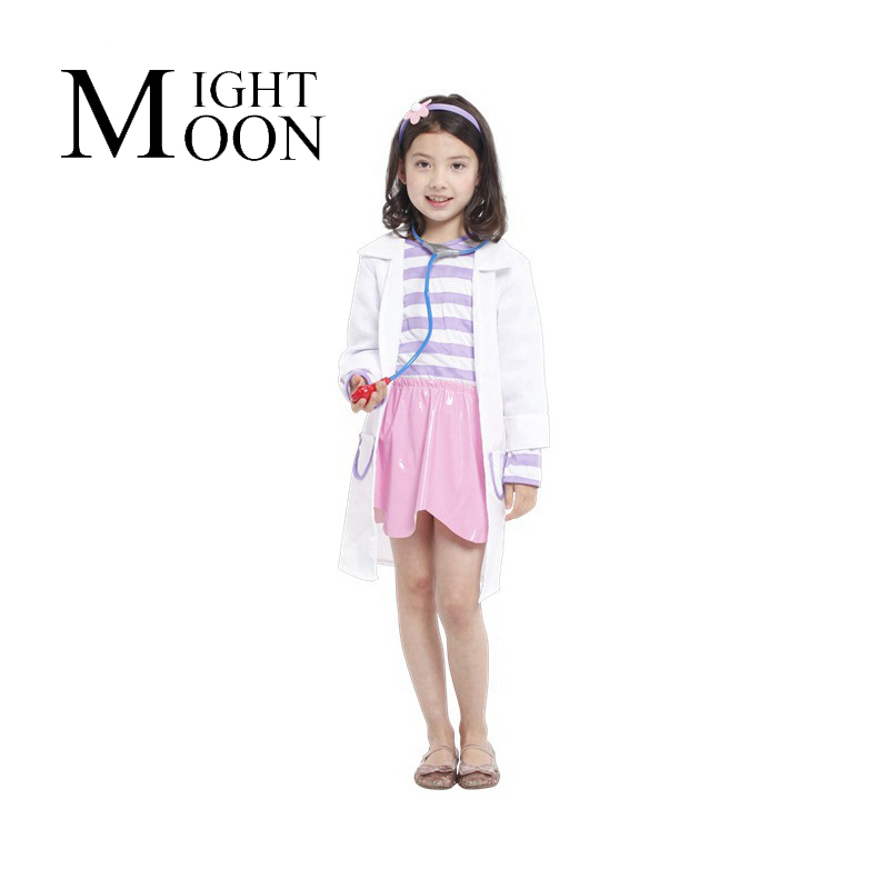 MOONIGHT Doctor Costume McStuffins Clinic Child Costume Girl's cosplay Fancy dress Carnival halloween costume