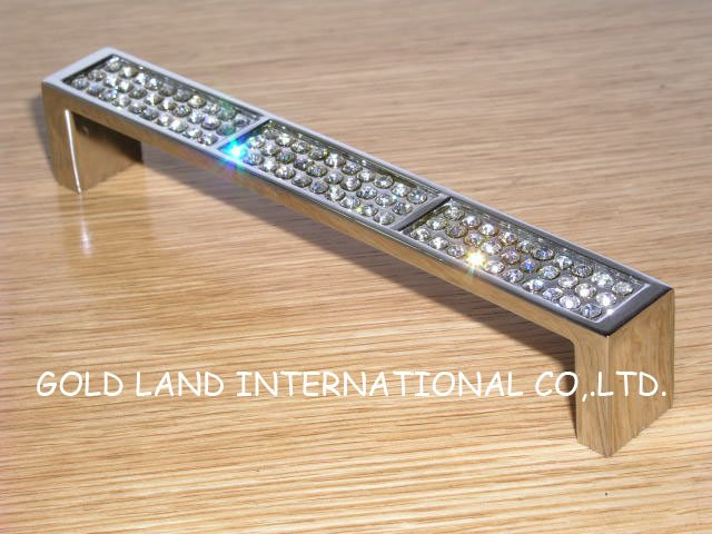 128mm Free Shipping K9 Crystal Glass Door Pull Dawer Handle Kitchen