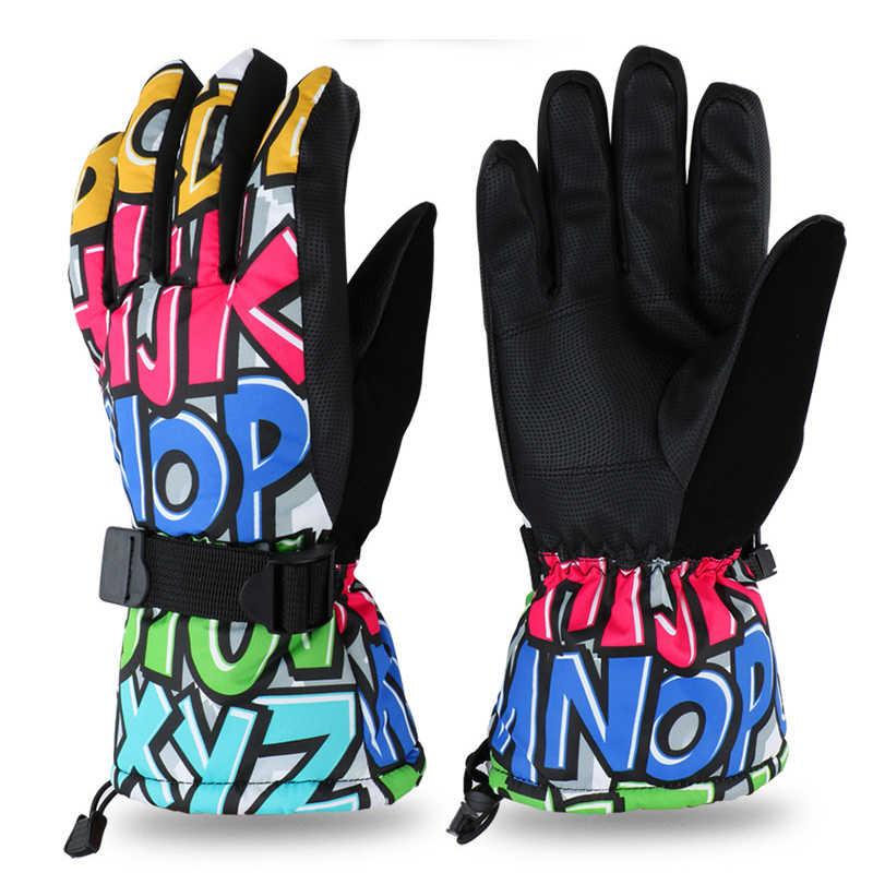 Профессиональные лыжные перчатки As Fish для взрослых и подростков, перчатки для сноуборда, мотоциклетные зимние термоперчатки для верховой езды, восхождения, водонепроницаемые зимние перчатки