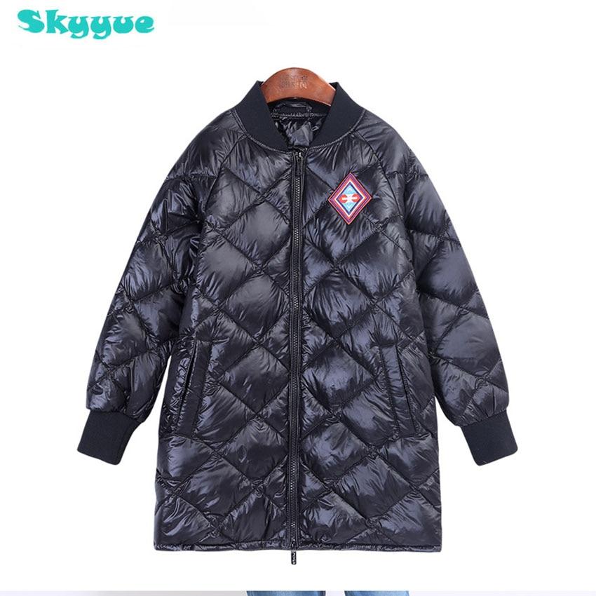 Kids coats boys winter kids white duck down v-neck collar jacketts children coat winter boys long winter coat for kids