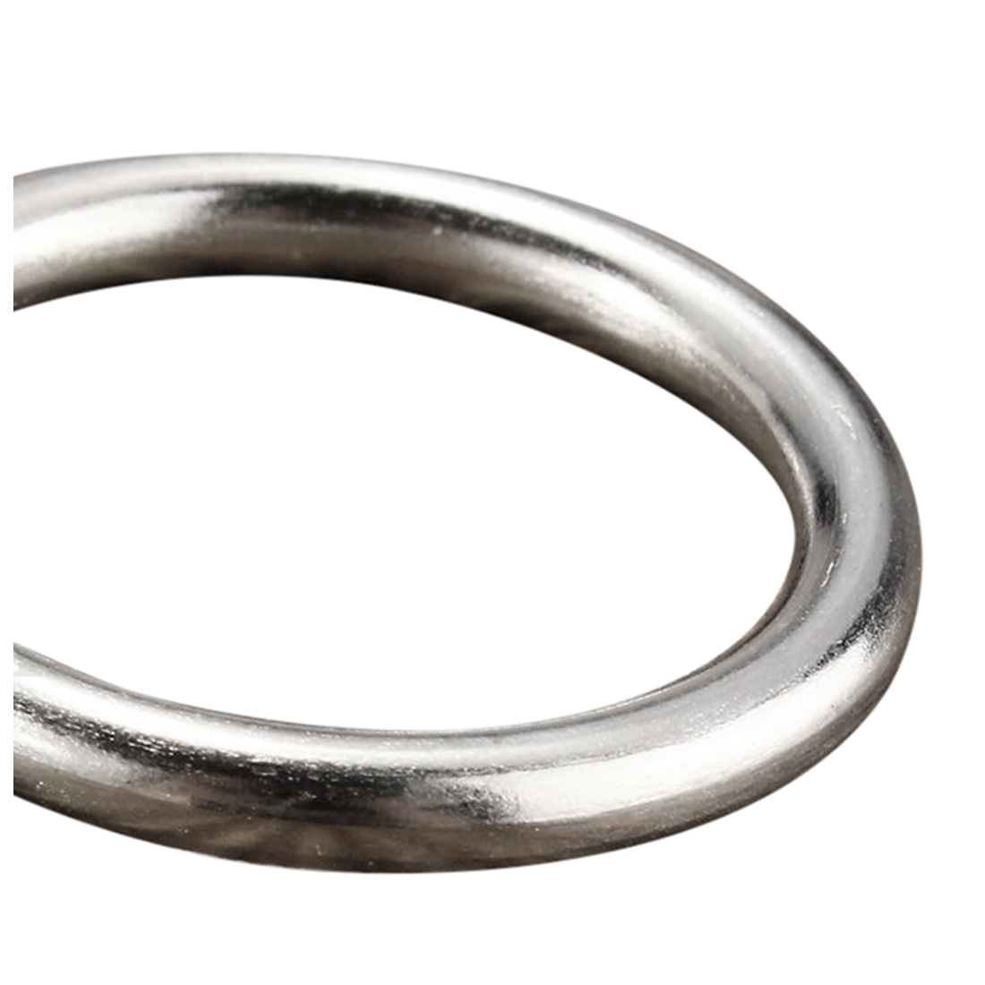 Practical Boutique 10x Metal Silver Window Shower Curtain Rod Rings Diameter 25mm