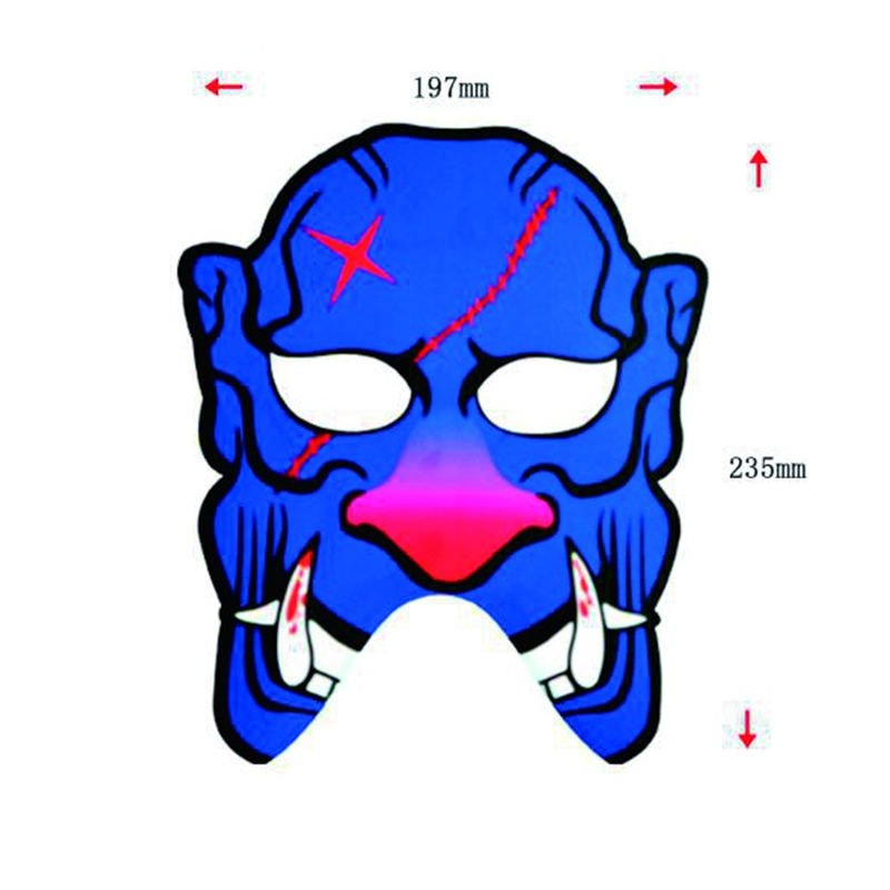 Halloween Full Face Dance Mask Voice LED Control Party Mask 1