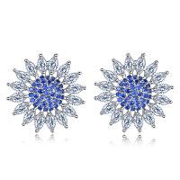 Lovely Personality New Style Summer Ear Stud Crystal Female Plating Earrings Allergy Resistant Geometric Earring