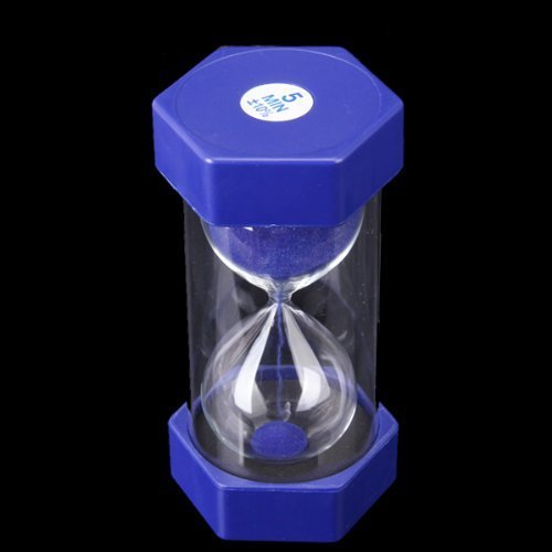 Blue 5 Minutes Sand Timer Security Fashion Hourglass-in Hourglasses
