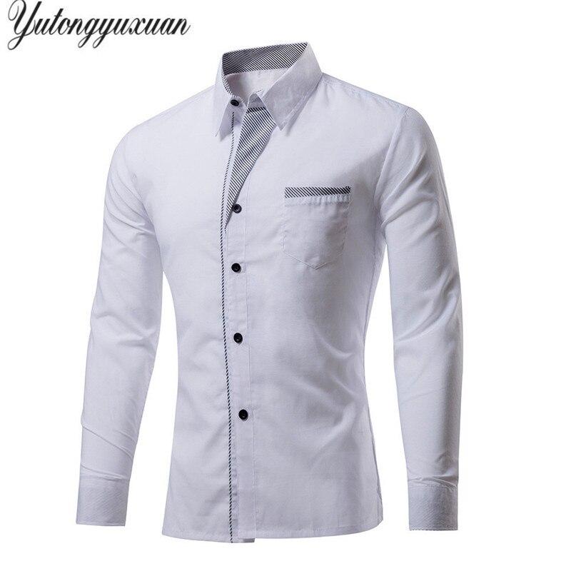 7723193f8c M-4XL Tallas grandes Venta Superior Los Hombres de Lujo Camisas Ocasionales  Con Estilo camisa