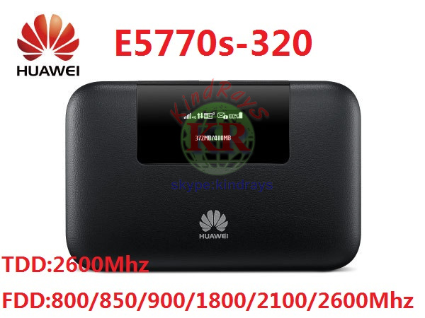 Unlocked Huawei E5770 E5770s-320 4G Mobile WiFi Router FDD:800/850/900/1800/2100/2600Mhz&TDD:2600MhzPK E5771 E5885 цена