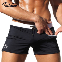 Taddlee Brand Sexy Men Swimwear Swimsuits Low Waist Boxers Men s Surfing Trunks Pocket Beach Man