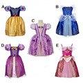 Niños Chicas Rapunzel Vestido Fantasia Vestidos Niños Niños Cosplay Vestidos Rapunzel Princesa Costume Wear Realice Ropa De Halloween