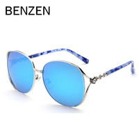 Бензола поляризованных солнцезащитных очков роскошный цветок Дизайн женские солнцезащитные очки Дамы Оттенки вождения очки с случае 6266