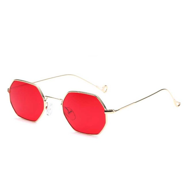 046240a4b74 Trends Women Sunglasses Small frame polygon Clear lens Sunglasses Brand  Designer Men vintage Sun Glasses Hexagon