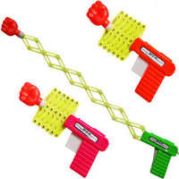 NEW Retractable Fist Shooter Trick Toy Gun Funny Child plastic Party Festival Gift Just For fun Classic Elastic Telescopic Fist