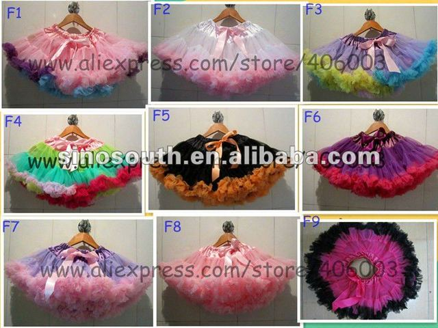 free shipping baby girls princess birthday ribbon ttim fluffy tutu skirt