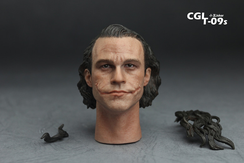 CGL T-09S Batman Joker Heath Ledger No Makeup Version of The Clown for 12 Action Figure Dolls Toys the joker the clown prince of crime