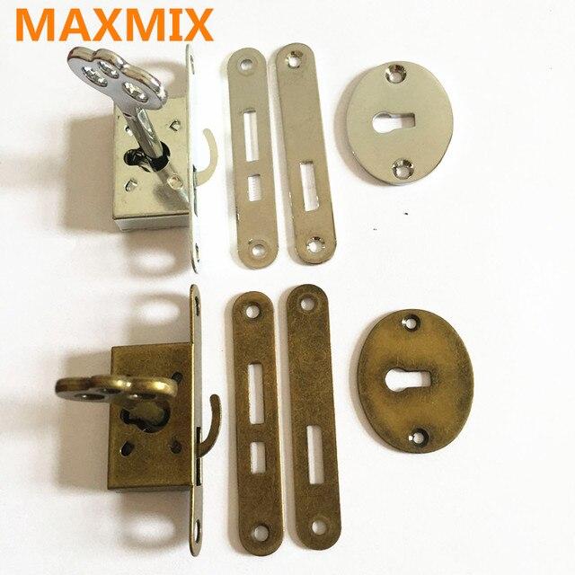 MAXMIX 1PCS Classical lock Restore ancient ways small l Box lock Antique  furniture counter Drawer ock - MAXMIX 1PCS Classical Lock Restore Ancient Ways Small L Box Lock