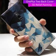 OnePlus Two чехол Аккумулятор Чехол OnePlus 2 3D Рельеф Живопись задняя крышка для одного плюс два/OnePlus 2