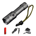 RU AC E17 CREE XM-L T6 3800Lumens Torch Zoomable 3 Modes Tactical Flashlight Lanterna Lights For Rechargeable 3xAAA or 1x18650