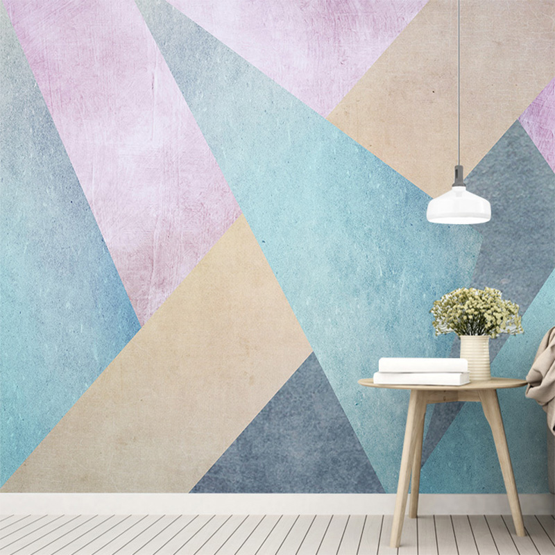 Custom 3D Wall Paper Roll Nordic Simple Abstract Geometric Square Mural Living Room Sofa TV Backgrounds Home Decoration Tapety Herbal Products f4843c1c797abf1a256c88: 1 ㎡