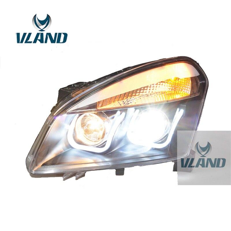 VLAND Factory pour lampe frontale pour Qashqai phare LED 2011 2012 2013 2014 avec DRL H7 lampe au xénon lampe frontale avec ampoule halogène