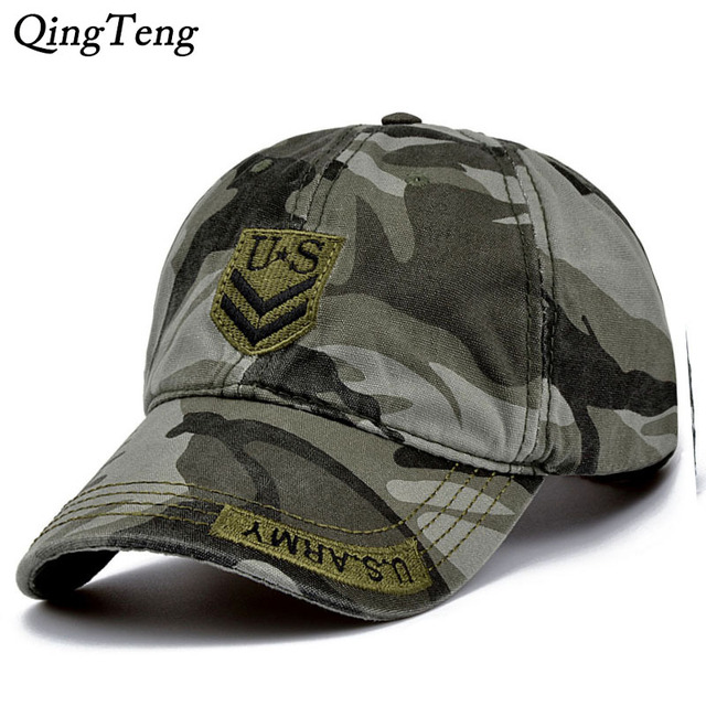 USA Army Cap Embroidery Cotton Tactical Cap Camouflage Hats For Men Women  Baseball Cap Brand Camo Snapback Hats 0037934d3bd