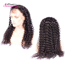 Mink Virgin Brazilian Human Hair Full Lace Wigs Deep Curly Natural Color Bleached Knots Full Lace Human Hair Wigs In Stock