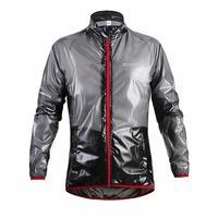WOSAWE Transparent Breathable Bicycle Rain Jacket Cycling Bike Raincoat Men Women Jersey Waterproof