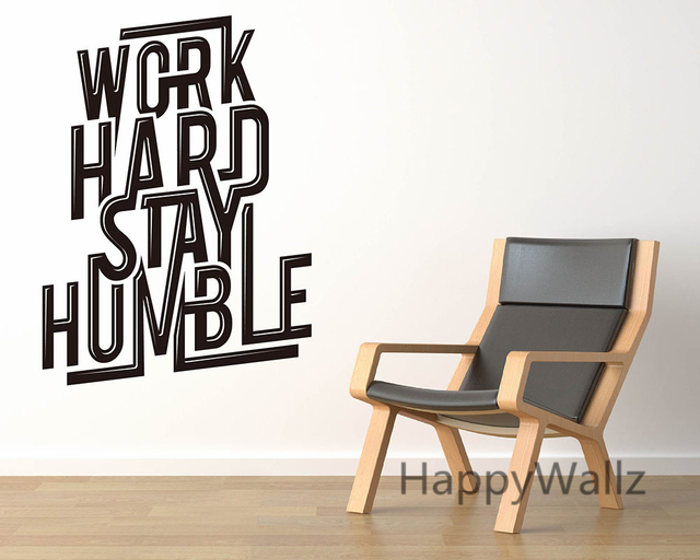 Work Hard Stay Humble Motivational Quotes Wall Sticker DIY - Wall decals motivational quotes