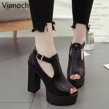 купить 2019  New Fashion Womens Platform Pumps Sexy High Heels Peep Toe Summer Shoes Lady aa0949 по цене 1319.3 рублей