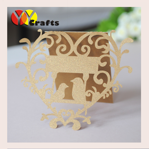 Hot sell wedding and party gift table card holder with OEM table numbers printed laser cut seat card image