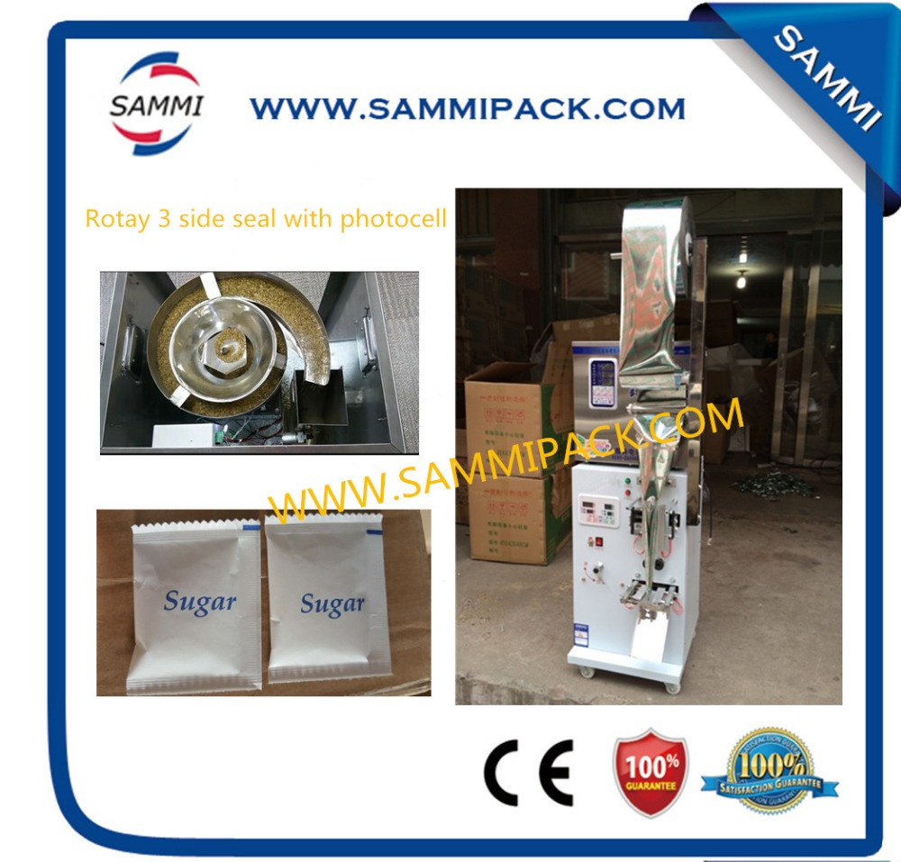 SMFZ-70A 3 side seal with photocell rotary automatic packing machine 2g to 100g for seed, fruit